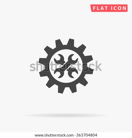 Service Icon Vector. Simple flat symbol. Perfect Black pictogram illustration on white background.