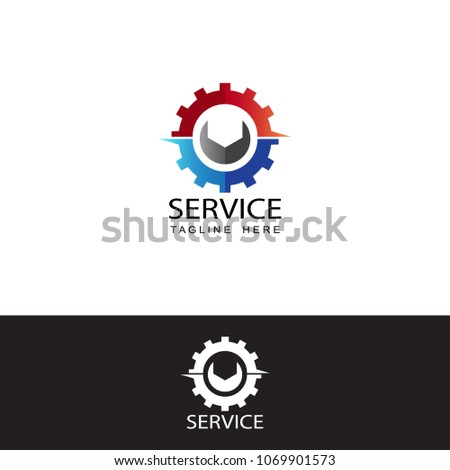 service logo template design