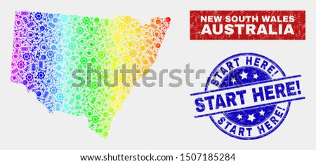 service new south wales map and