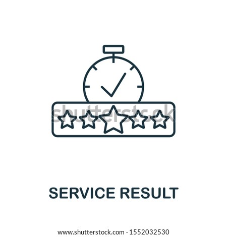 Service Result icon outline style. Thin line creative Service Result icon for logo, graphic design and more.