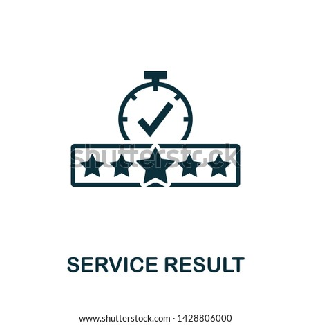 Service Result vector icon illustration. Creative sign from quality control icons collection. Filled flat Service Result icon for computer and mobile. Symbol, logo vector graphics.