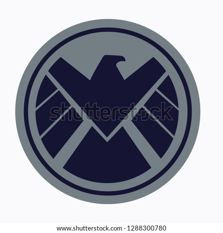 Service shield emblem. Marvel icon. Vector illustration. EPS 10.