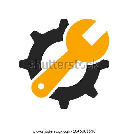 Service tool icon modern flat design