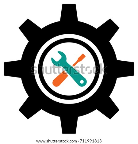 Service tool icons isolated on white background. Options vector illustration. Settings symbol with gears and spanner