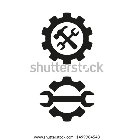 Service tool icons on white background.