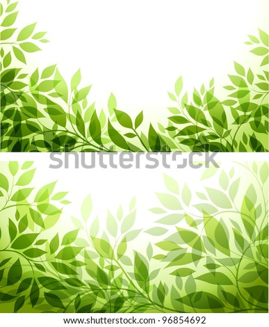 set - abstract background with green sheet