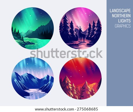 set abstract circle vector