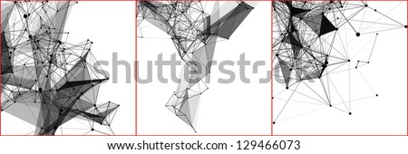 Set abstract vector backgrounds of a communication concept.