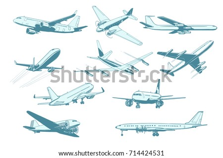 set aircraft air transport