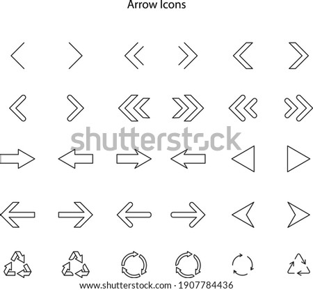 Set arrow icon. Collection different arrows sign. Set of flat icons, signs, symbols arrow for interface design, web design, apps and more. Arrows big black set icons. Arrow icon.