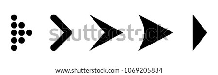 Set arrow icon. Different black arrows sign. Elements for business infographic – vector #1069205834