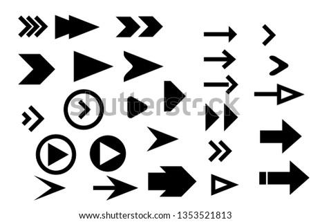 Set arrow icons. Arrow icon. Arrow vector collection. #1353521813