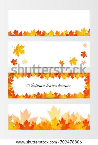 set autumn frames