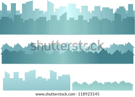 set background with skyscraper
