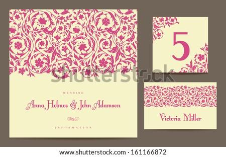 vector wedding table number template download free vector art