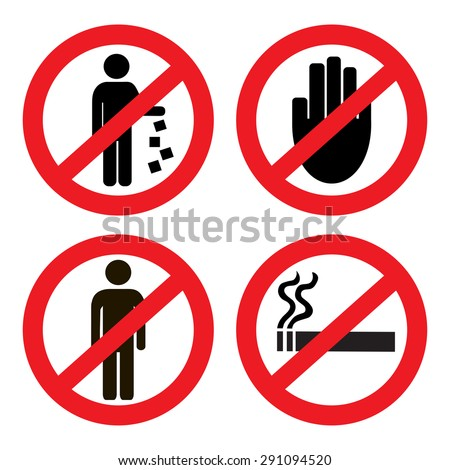 Set ban icons Сток-фото ©
