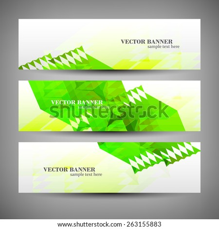 Set banner abstract illustration, colorful digital composition