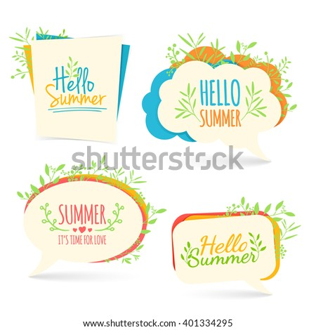 set banner  logo  sticker