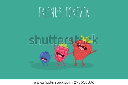 set berry strawberries