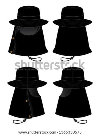 c02d995c71122 Set Black Bucket Hat   Fishing Hat