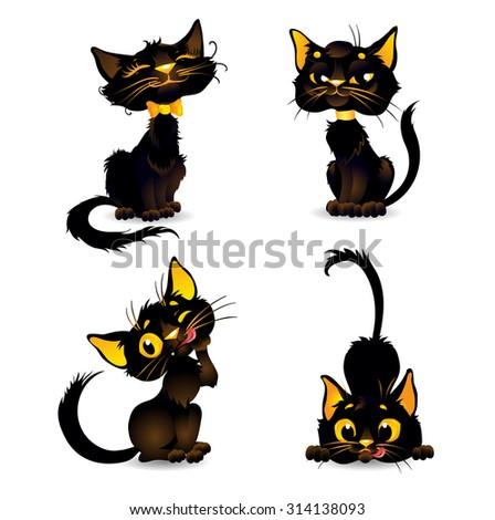 set black cats for halloween