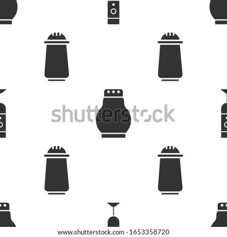 Set Blender, Salt and pepper and Salt and pepper on seamless pattern. Vector