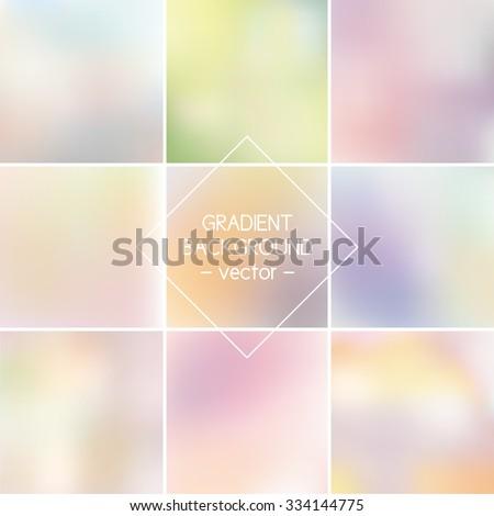set blurred vector backgrounds
