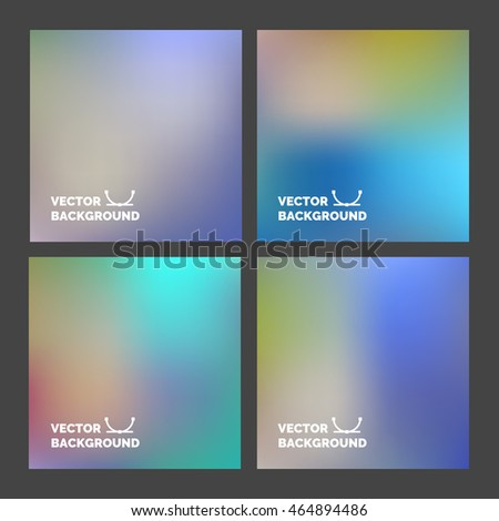 set blurred vector backgrounds