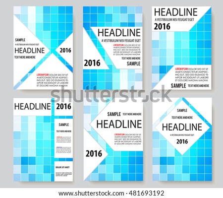 set book cover presentation abstract geometric background #481693192
