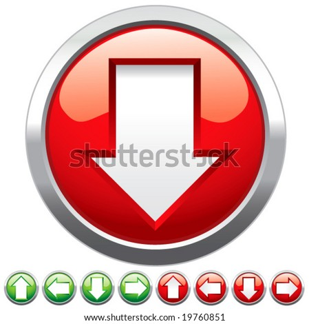 Set buttons for web design. vector