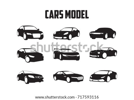 Stock Photo Set cars