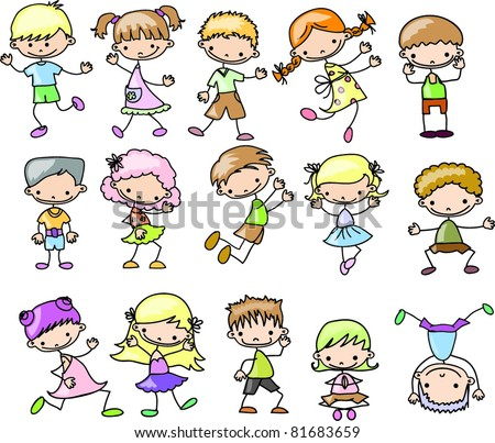 set cartoon childrenset cartoon children