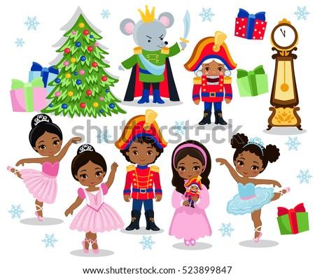 Nutcracker Christmas Tree Clipart.Nutcracker Ballet Free Vector Art 11 Free Downloads