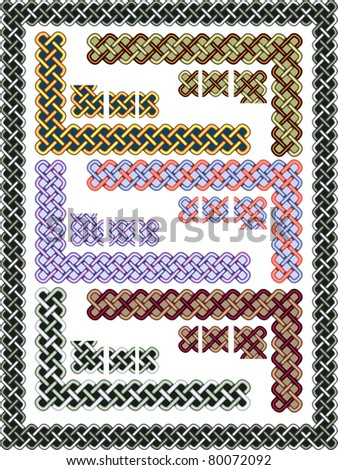 Set celtic patterns for a frame in a vector