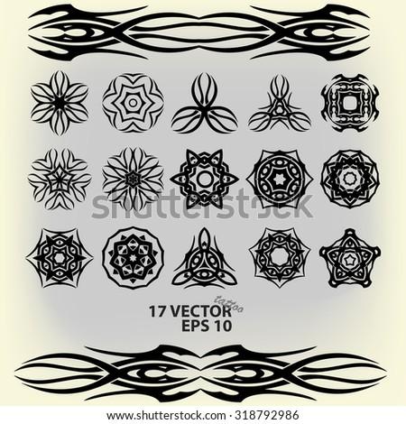 Set celtic patterns vector tattoo #318792986