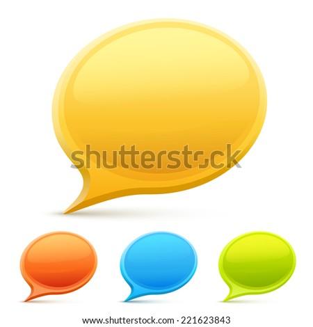 Set chat color. Vector illustration #221623843