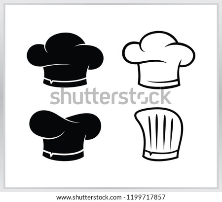 Set chef hat logo. cheaf  hat vector design template