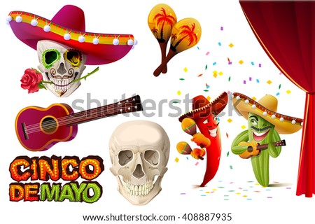 set cinco de mayo mexican