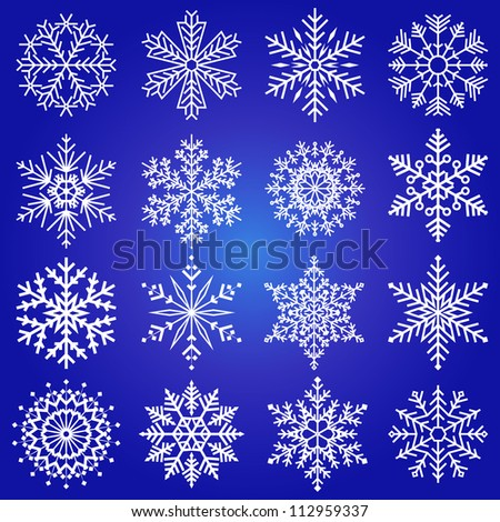 Set collection beautiful of vector snowflakes / Vector snowflakes set