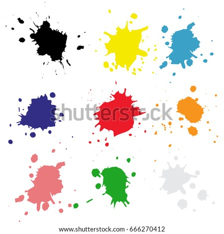 stock-vector-set-color-drops-of-paint-and-stains-ink-blots-vector-ink-texture
