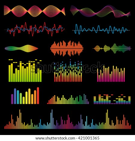 set color sound waves colorful