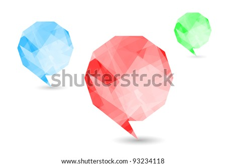 Set colorful speech bubbles and dialog balloons