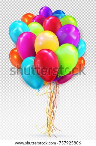 set colors helium balloon