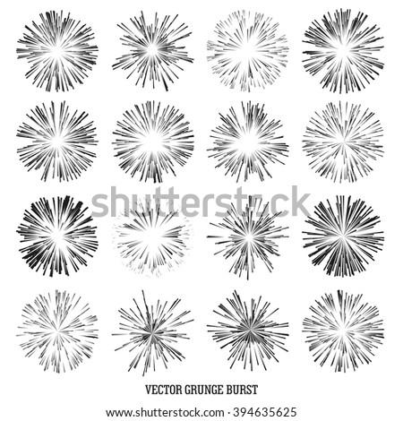 set comic radial speed lines