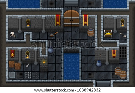set contains tiles and objects