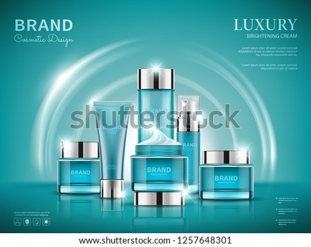 set cosmetic ads  blue package
