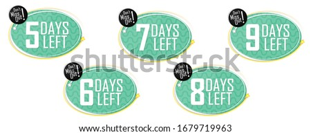 set countdown tags  5 up to 9