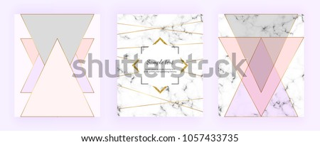 stock-vector-set-cover-geometric-designs-with-marble-texture-gold-lines-triangles-pastel-pink-grey-colors