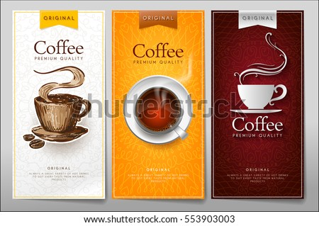 Set creative menus for hot drinks in a different style. Color menu for restaurant or cafe.