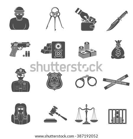 set crime and punishment icons